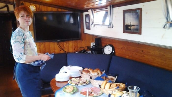 Halfpension catering zeilschip